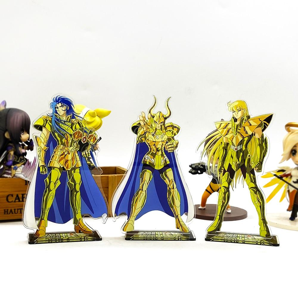Saint Seiya Zodiac Saga Shura Shaka acrylic stand figure model plate holder cake topper anime Japanese(China)