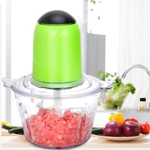 Kitchen 2L Meat Grinder Electric Mutifunction Food Processor Chopper Stainless Steel Blade Vegetable Chopper Blender Mincer