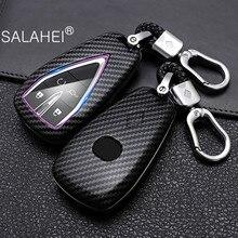 Carbon Fiber ABS Auto Smart Key Abdeckung Fall Halter Für Changan CS35Plus CS55Plus CS75Plus 2019 2020 Auto Keyless Shell Zubehör