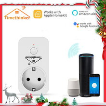 Timethinker prise WiFi intelligente Homekit prise adaptateur ue pour Apple Homekit Siri ALexa Google Home APP télécommande vocale(China)