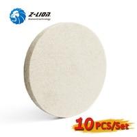 Z LION 10pcs 5 Inch Wool Buffing Pad Fine Wool Felt Polishing Wheels Car Glass Polishing Buff Disc Abrasive Tool