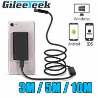 WIFI 3M 8LEDS Endoscope 8mm 720P HD Wifi Camera 3m hard wire Iphone Endoscope Waterproof Camera Android iOS Boroscope Camera