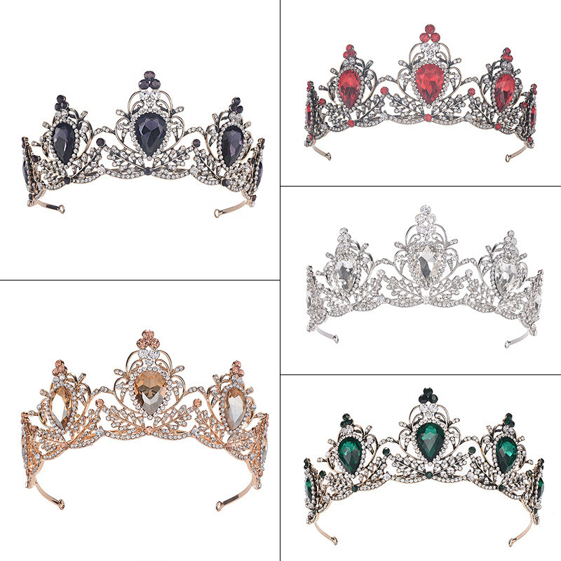 CC Tiaras And Crowns Hiarbands Baroque Style Vintage Wedding Hair Accessories For Bride Princess Party Headdress CZ Stone HG1199