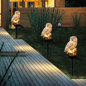 Image 3 - Búho luz LED Solar para jardín luces LED solares impermeables lámpara con forma de estaca de animales de dibujos animados iluminación exterior decoración guirnalda Patio de camino de césped