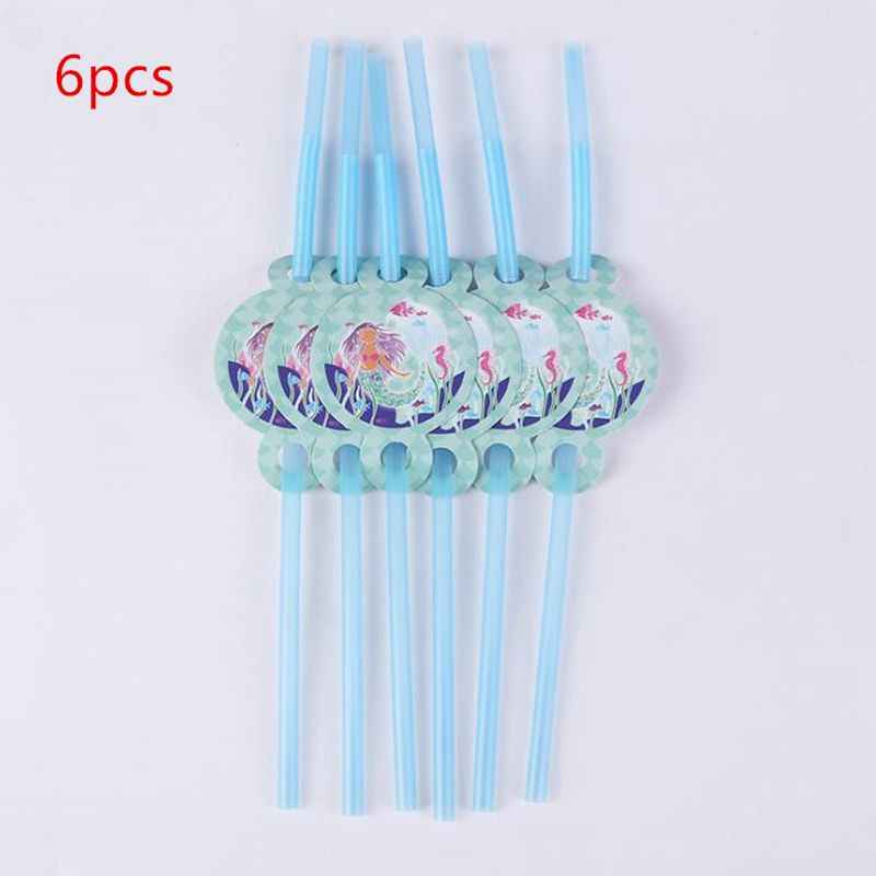 1PCS Happy Baby Shower Little Mermaid Theme Tableware Set Girls Favors Tablecloth Decoration Napkins Birthday Party Cups Plates