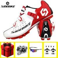 Zapatos de ciclismo SIDEBIKE para hombre  conjunto de pedales para bicicleta de montaña  gafas sapatilha ciclismo mtb  cómodos zapatos de bicicleta autoblocantes Zapatillas de ciclismo     -