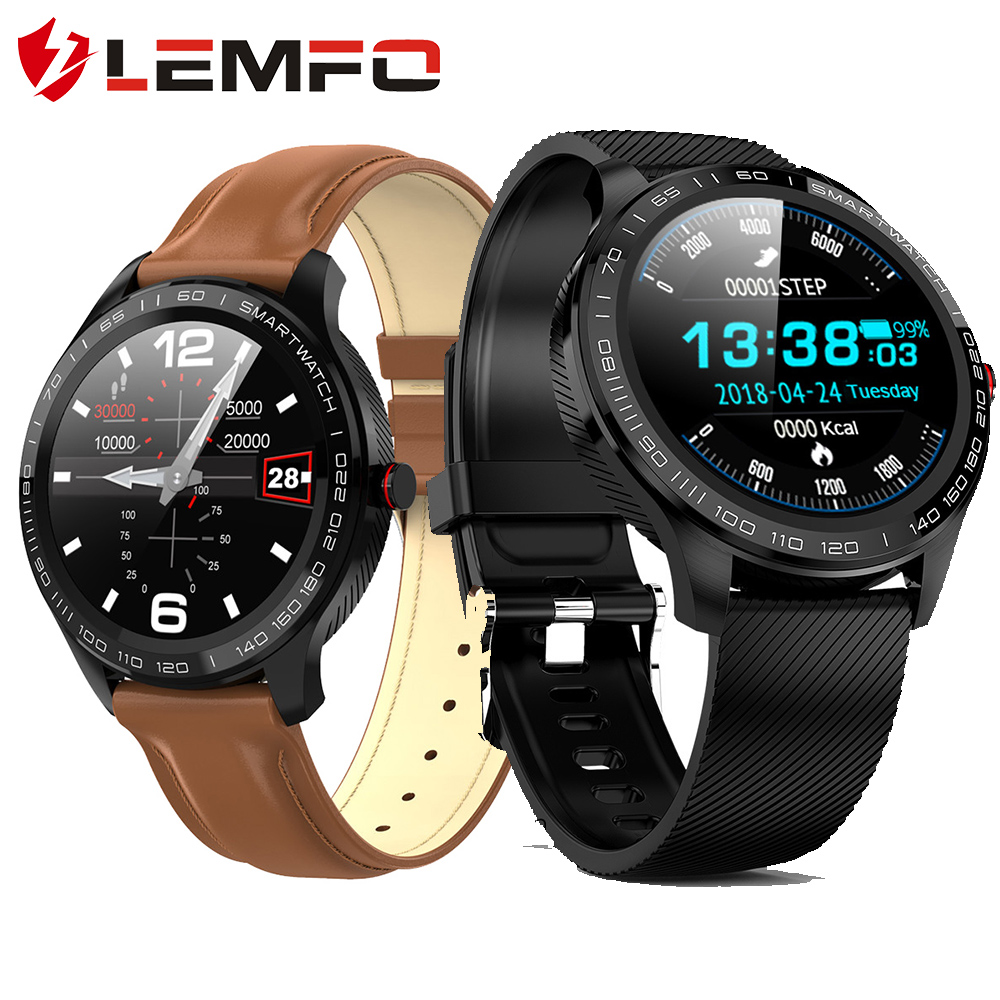 LEMFO L9 ECG Smart Watch Men Full Round Multi-Touchable Smartwatch IP68 Sport Watches for Men Bluetooth Reminder/ Music(China)