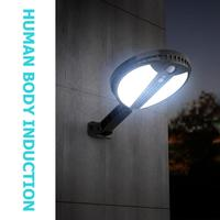 Hot Sale Porch Lights Delicate Design Round Solar LED Wall Lamp Waterproof Remote Body Induction for Landscape Outdoor