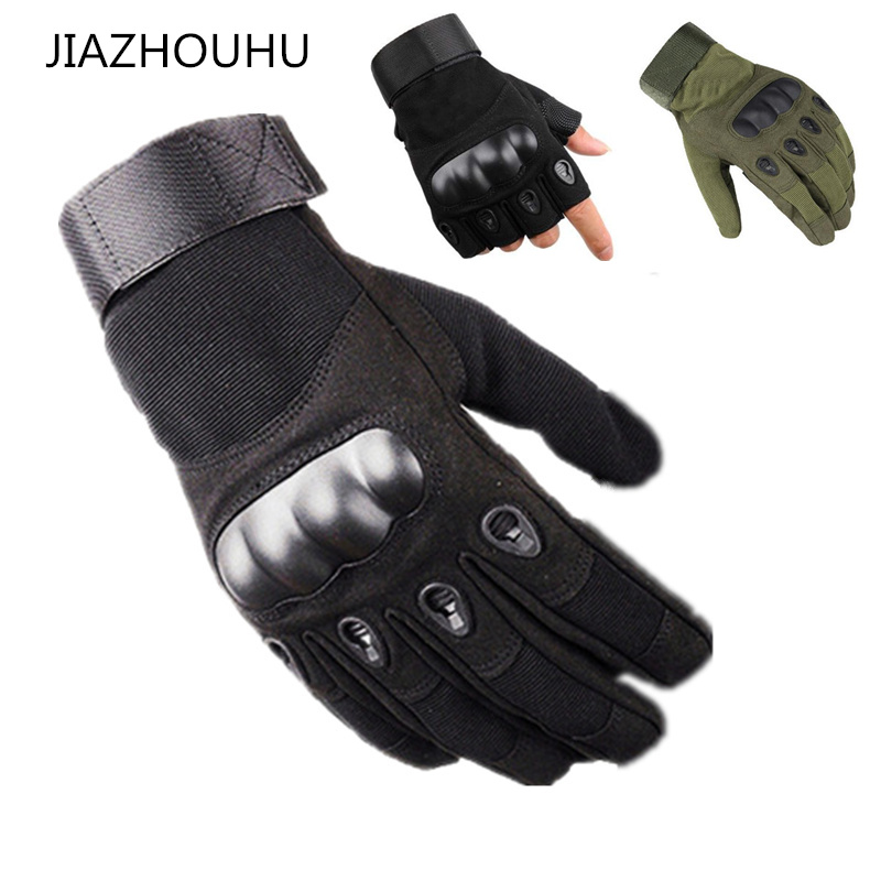 Tactical Hard Knuckle Full / Half Finger Gloves Men Army Military Combat Airsoft Police Duty Men's Fingerless Tactical Gloves