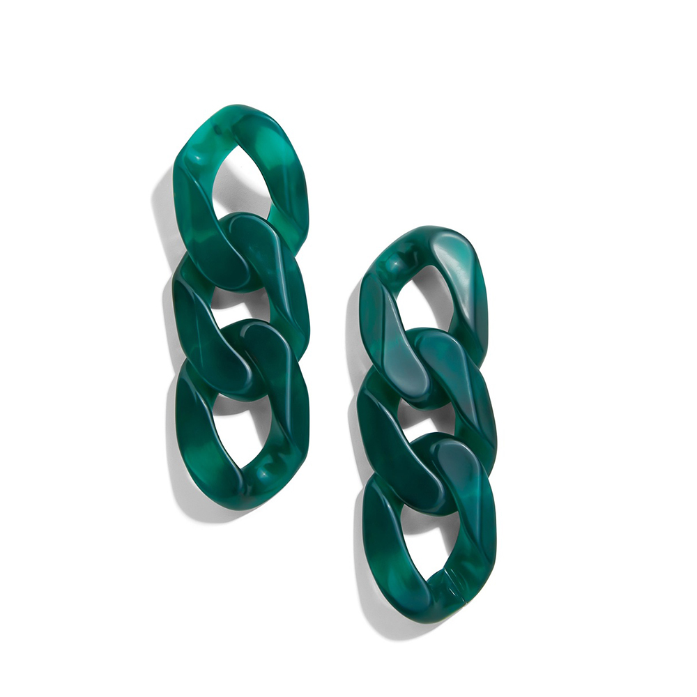 New Fashion Acrylic Geometric Drop Earrings Trendy Vintage Resin Long Chain Dangle Earrings for Women Boho Brincos 2020