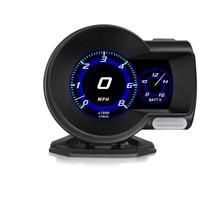 Pantalla Фронтальная для el coche, proyector de velocidad, alarma de seguridad, temperatura del agua, sobrevelocidad, RPM, voltaje