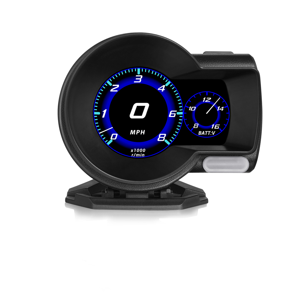 Pantalla frontal para el coche... proyector de velocidad y alarma de seguridad de temperatura del agua sobrevelocidad RPM... voltaje...