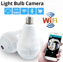 1080P 360 Security wifi Camera Lamp Panoramic Bulb IP CCTV Video Surveillance Fisheye HD Night Vision Two Way Audio