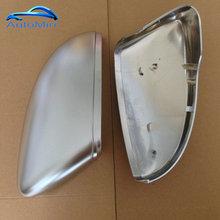 Matte Chrome Flügel Spiegel Kappen für VW Passat CC B7 Scirocco Jetta MK6 euro Käfer Seite Abdeckung ersetzen 2010 2011 2012 2013 2014