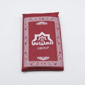 Image 4 - Sale 100*60 Cm Hồi Giáo Cầu Nguyện Thảm Polyester Di Động Đầm Thảm In Có La Bàn Trong Túi Du Lịch Nhà Mới phong Cách Thảm Chăn