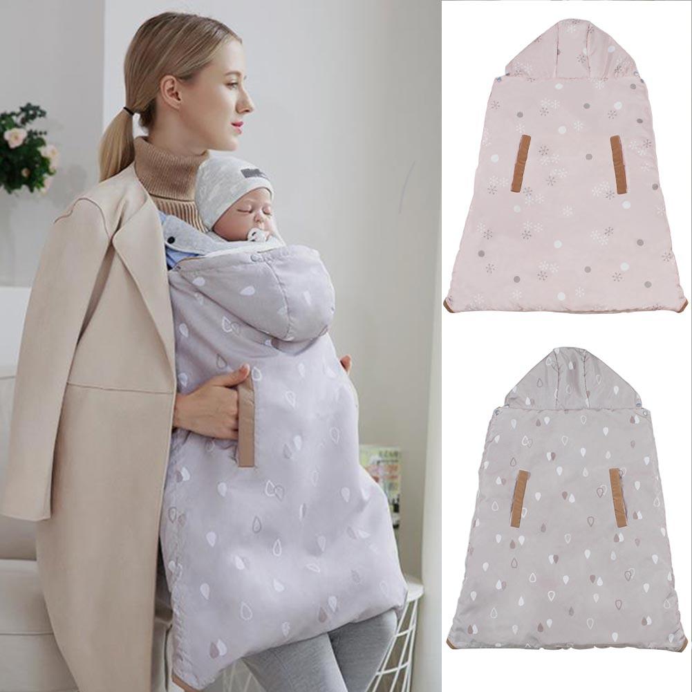 0-36 Months Blanket Hooded Coat Adjustable Baby Carrier Infant Multi-use Sleeping Bag Windproof Children Cloak Heat Warm Cape