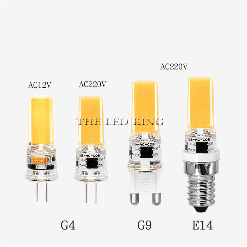 LED Lamp Mini Dimmable 12V DC/AC 12W 9W 6W 220V LED g9 LEDs Bulb Chandelier Light Super Bright G4 COB Silicone Bulbs Ampoule G9