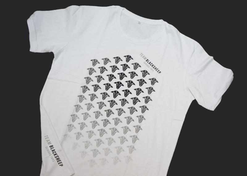 TEAM-BLACKSHEEP футболка с градиентом овцы