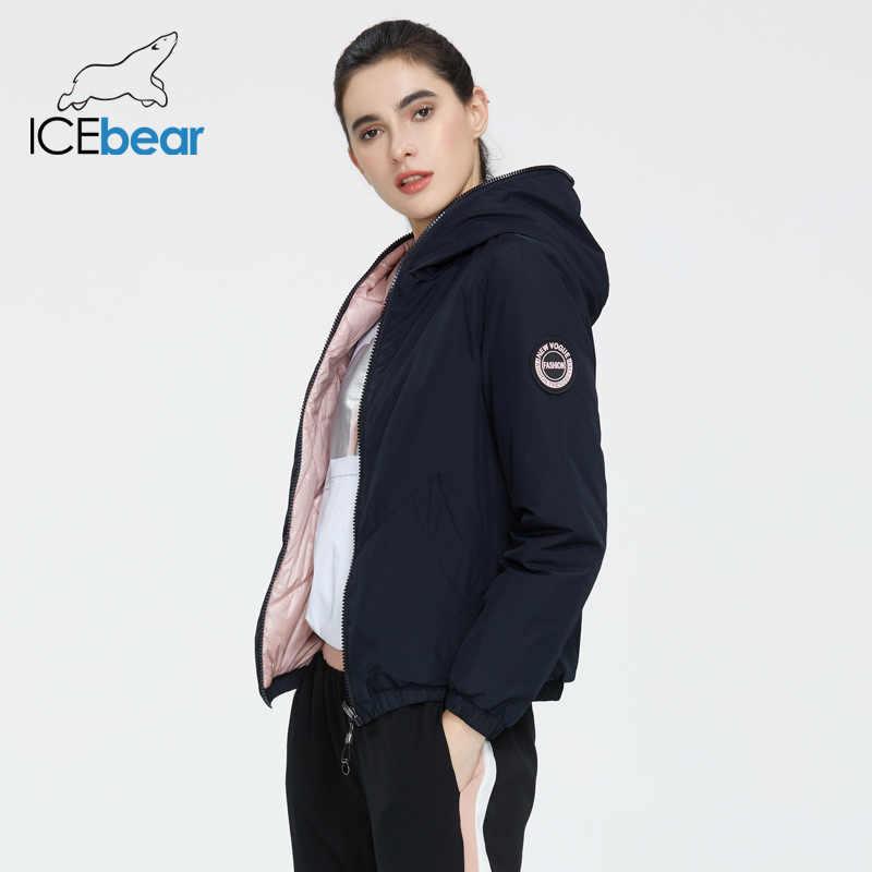 ICEbear 2020 bayanlar bahar ceket moda rahat kadın ceket giyim her iki tarafın kadın ceket marka giyim GWC20080I