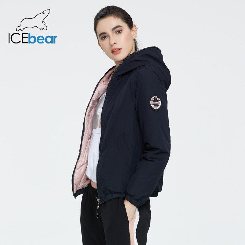 ICEbear 2020 ladies spring jacket fashion casual women jacket Wear both sides female coat brand clothing GWC20080I(China)