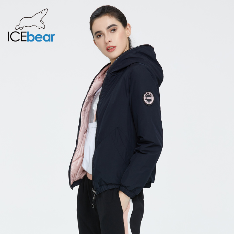 ICEbear 2020 Ladies Spring Jacket Fashion Casual Women Jacket Wear Both Sides Female Coat Brand Clothing GWC20080I