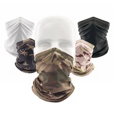 Outdoor Tactical Bandana Breathable Face Scarf Fishing Cycling Sport Soft Smooth Elastic Tube Neck Gaiter Cover Military Men