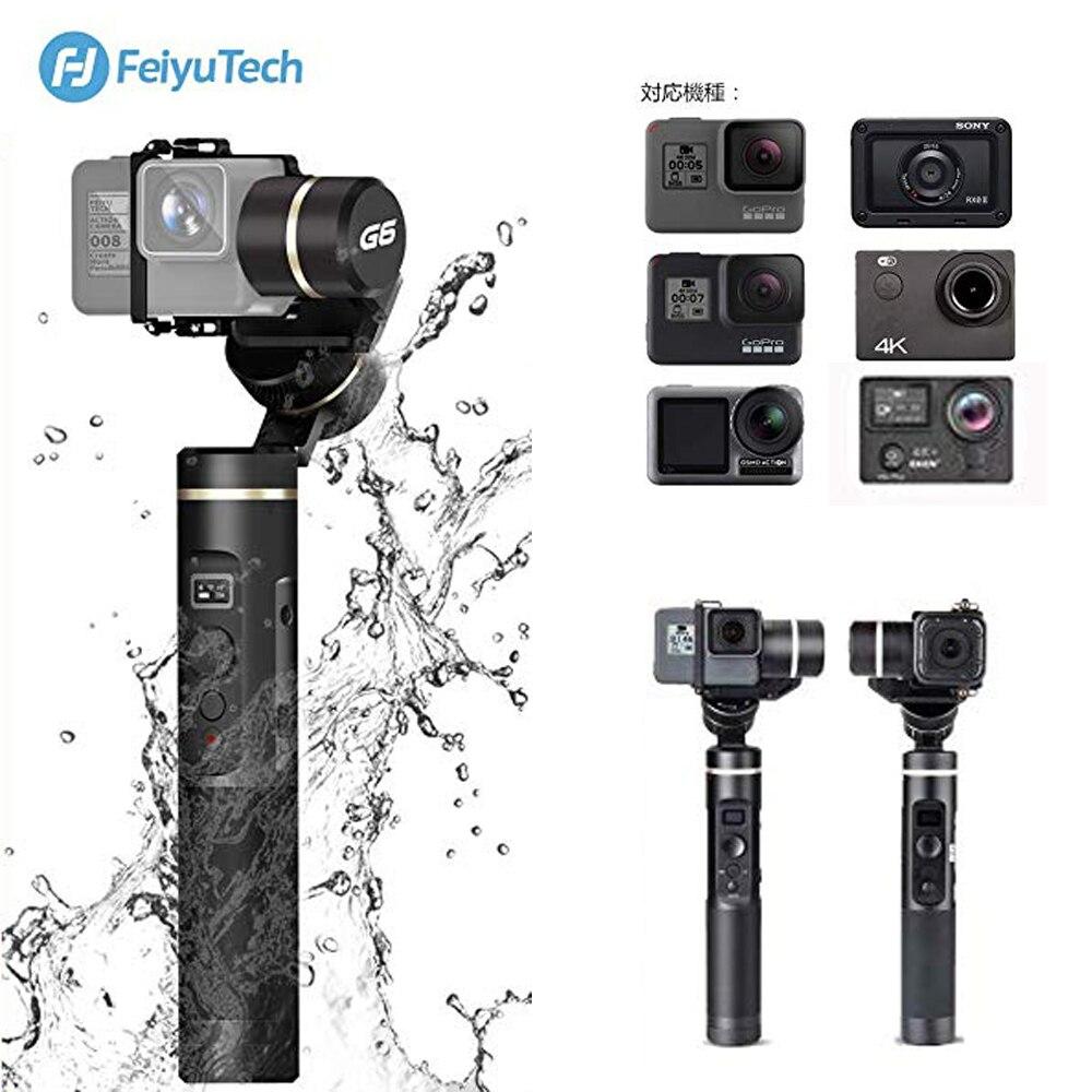 Feiyu G6 3-Axis Handheld Gimbal Stabilizer Splash Proof For GoPro Hero 6/5/4/3/Session,Sony RX0,Yi Cam 4K,AEE Action Camera RXO