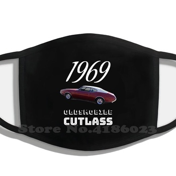 1969 Oldsmobile Cutlass Design Black Breathable Reusable Mouth Mask American Classic Muscle Car Oldsmobile Cutlass 1969 Classic image