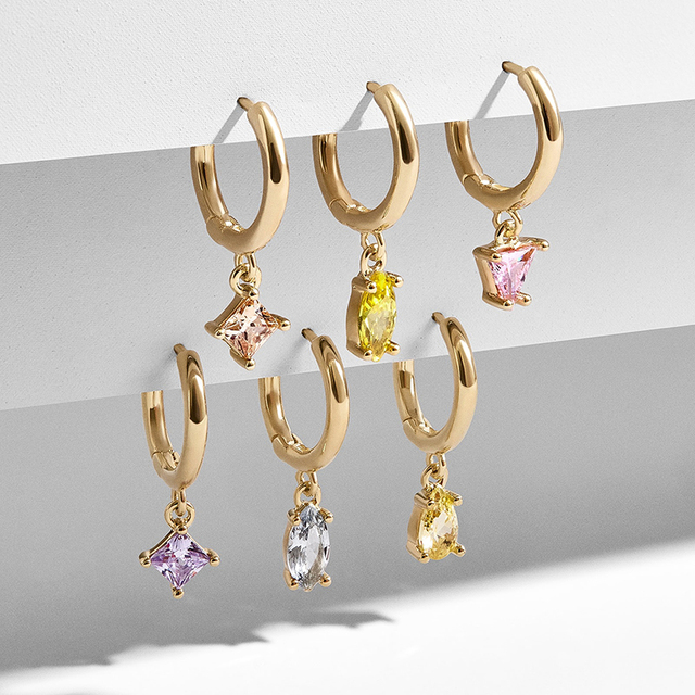 5 Pair/set 2019 Brincos Female Rhinestone Huggie Earrings Set Amazing Price Gold Small Stud Earring for Women Fashion Jewelry