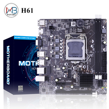 Placa base H61 LGA 1155, memoria DDR3 de doble canales, 16G, para Intel H61 LGA1155 Core I3 I5 I7 Xeon CPU, placa base 1155
