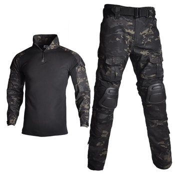 2020 Tactical Camouflage Military Uniform Clothes Suit Men US Army clothes Airsoft Military Combat Shirt + Cargo Pants Knee Pads men camouflage military tactical uniform clothes hunting clothes gear tactical shirt army combat shirt cargo pants knee pads