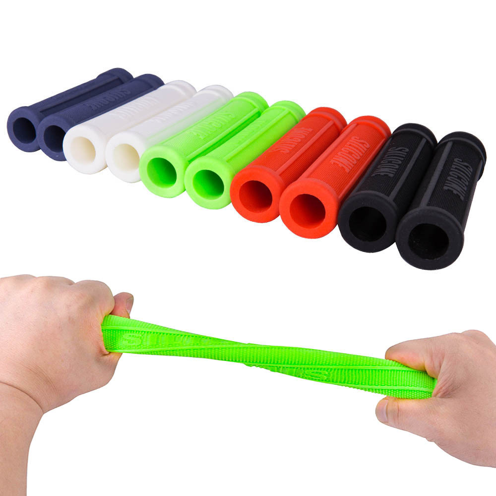 One Pair High Quality <font><b>Bike</b></font> Bicycle Handlebar Cover Grips Smooth Soft <font><b>Rubber</b></font> Colored Silica gel Handlebar cover Handle <font><b>Bar</b></font> <font><b>End</b></font> image