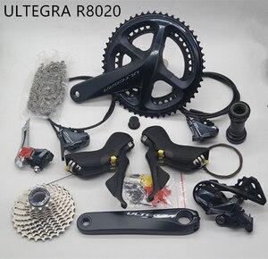Image 1 - シマノR8020グループセットアルテグラR8020油圧ディスクブレーキディレイラー道路自転車R8020 R8070シフターfc 50 34t 52 36t 53 39t