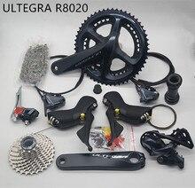 SHIMANO R8020 مجموعة ULTEGRA R8020 الصحن الهيدروليكي الفرامل Derailleurs الطريق دراجة R8020 R8070 شيفتر FC 50 34T 52 36T 53 39T
