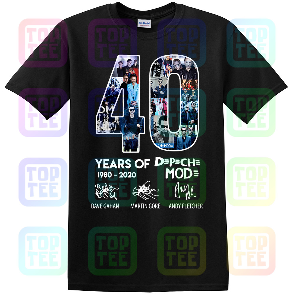 40 Year Of Depeche Shirt Mode 1980-2020 Tee Shirt Short Black-Navy Men-Women S-3XL .