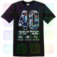 40 an de Depeche chemise Mode 1980-2020 Tee Shirt court noir-marine homme-femme S-3XL.