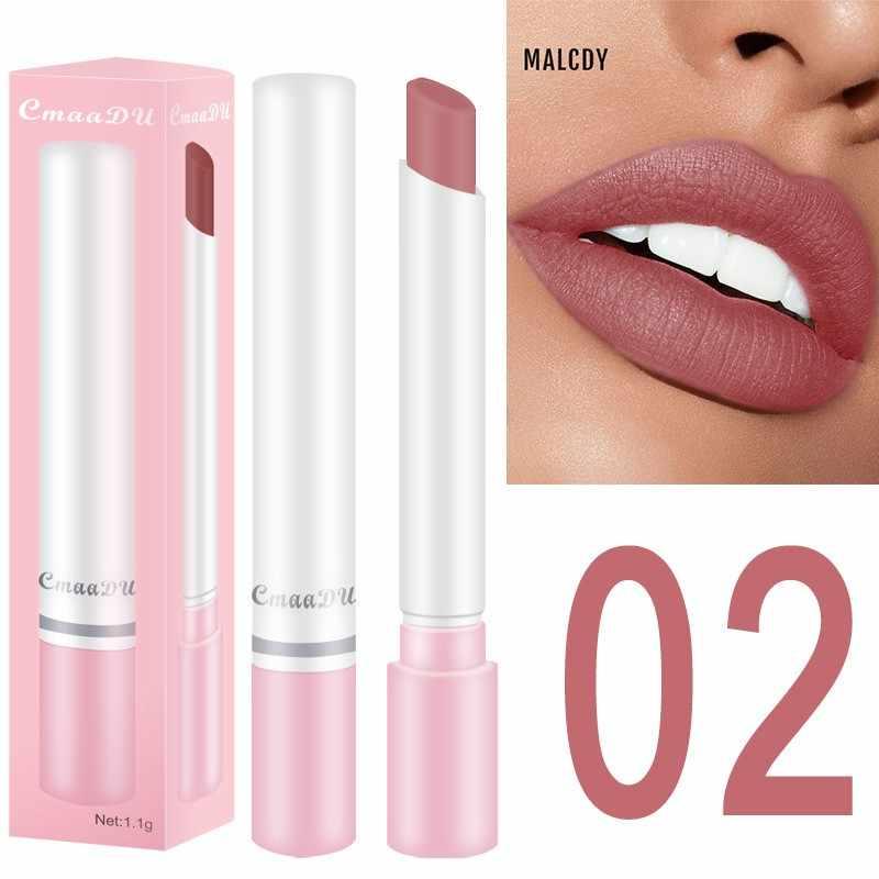 Tahan Lama Lipstik Tahan Air Tidak Memudar Lipstik Matte Beludru Kabut Permukaan 8 Warna Nude Matte Lipstik Kosmetik Kit