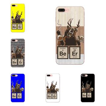 Soft TPU Coque Case Chemistry Bear Discovered Beer For Samsung Galaxy Note 5 8 9 S3 S4 S5 S6 S7 S8 S9 S10 mini Edge Plus Lite image