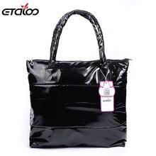 Женская сумка 2019 зимняя хлопковые пуховые сумки на плечо для
