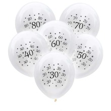 10pcs 30th Birthday Balloon 30 40 50 60 70 80 Year Party Decorations Adult Anniversary Baloons For