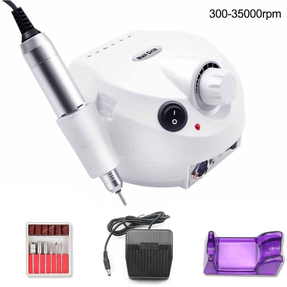 35000RPM Electric Nail Drill Machine Electric Manicure Machine Drills Accessory Pedicure Kit Nail Drill File Bit Nail Tools