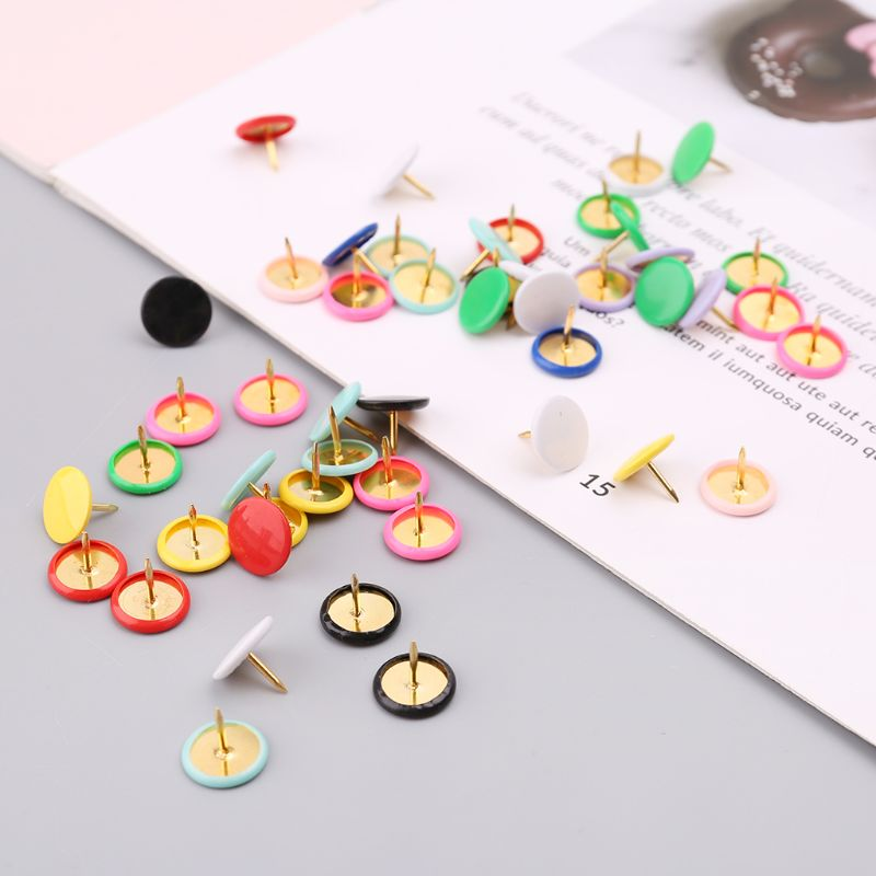 300pcs Home Office Drawing Pins Pushpin Thumbtack Cork Board Push Pin Photo Wall Map Markers Mixed Color L41E