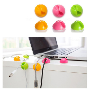 Universal Cable Bobbin Winder clamp protector Earphone Organizer Wire Cord Desk Fixer Holder Data line Tidy Collation Management image
