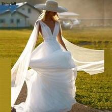 Thinyfull богемные Свадебные платья 2021 прозрачные с v образным