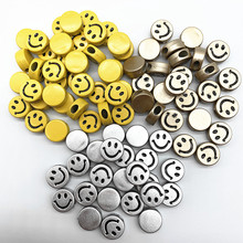 Loose-Spacer-Beads Bracelet-Accessories Jewelry-Making Face-Letter Acrylic DIY Smiling