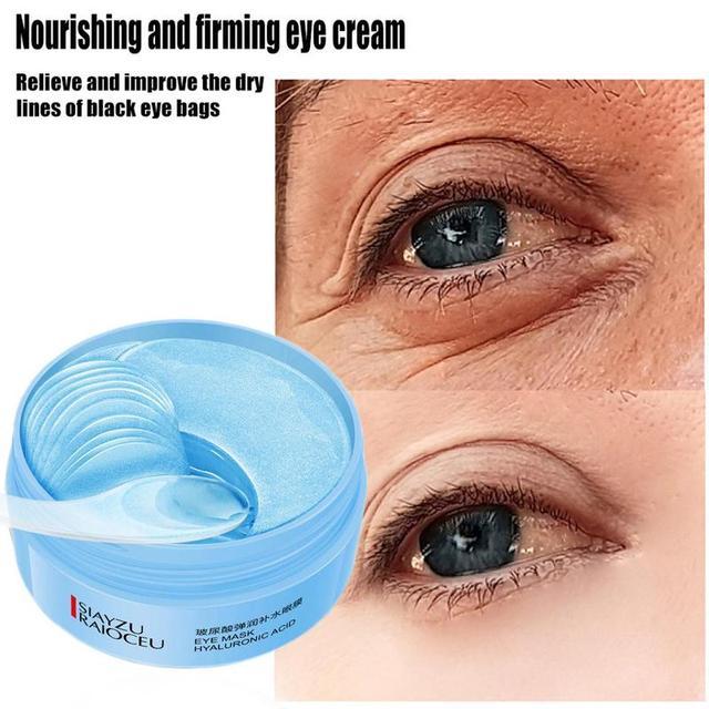 60pcs Hyaluronic Acid Firming Eye Patch Moisturizing Blue Eye Mask Remove Dark Circles Sleep Eye Mask Eye Care Korean Makeup 4