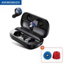 Anomoibuds Draadloze Hoofdtelefoon Ondersteuning Aptx Tws Bluetooth Headphons V5.0 Draadloze Koptelefoon Hi Fi Stereo Geluid Hoofdtelefoon