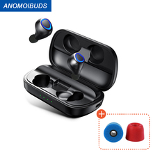 Anomoibuds wireless headphones Support aptx TWS Bluetooth headphons V5.0  Wireless Earphone Hi Fi Stereo Sound headphones