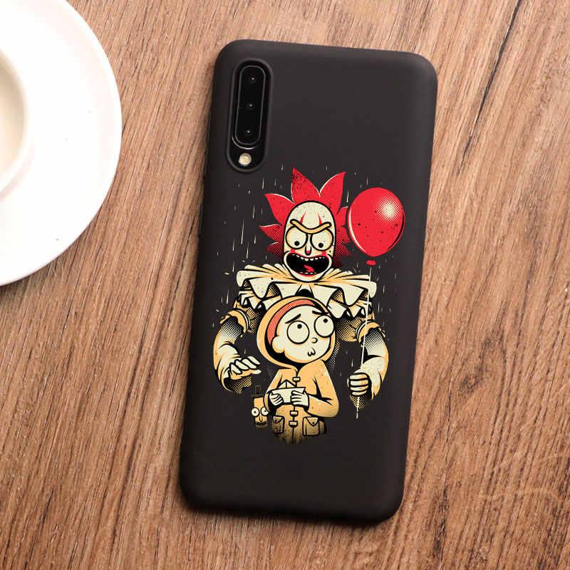 かわいいリックと morty ブラックキング電話ケース S20 プラス A50 A70 S10 e S7 エッジ S9 S8 s10 プラス A6 A7 2018 M10 tpu シリコーン