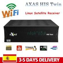 Axas seu gêmeo DVB-S2/s hd enigma 2 receptor de satélite construir em wifi + linux e2 aberto atv h.265 iptv caixa receptor tv satélite axas